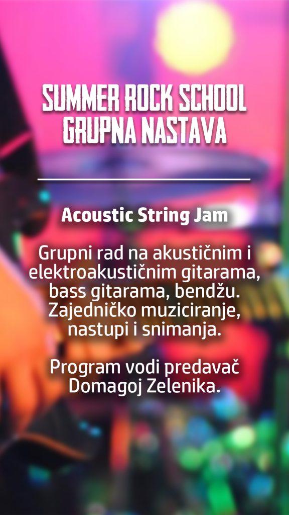 summer rock school acoustic string jam