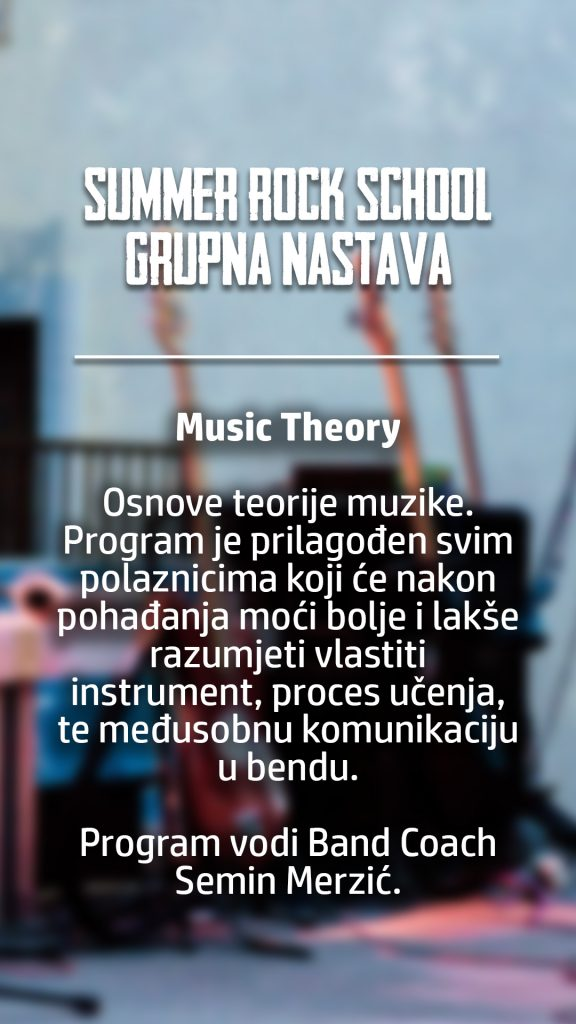 summer rock school grupna music theory