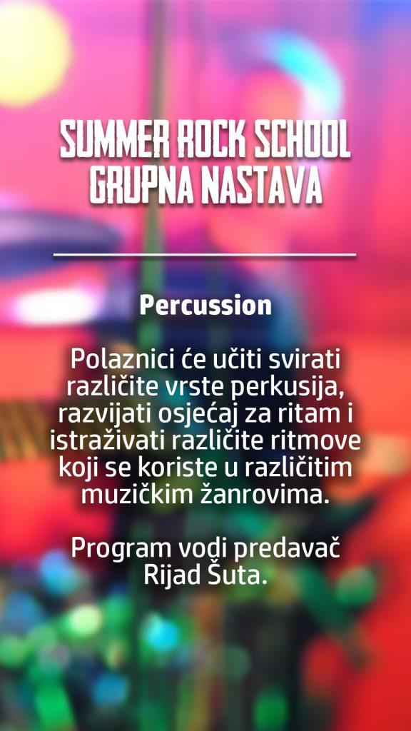 summer rock school grupna percussion
